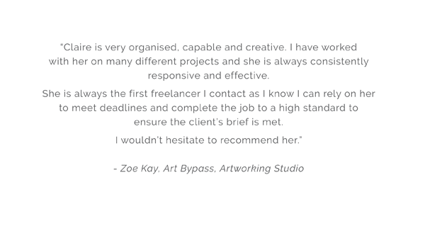 Atlee Design Graphic Design and Artworking Testimonial 2