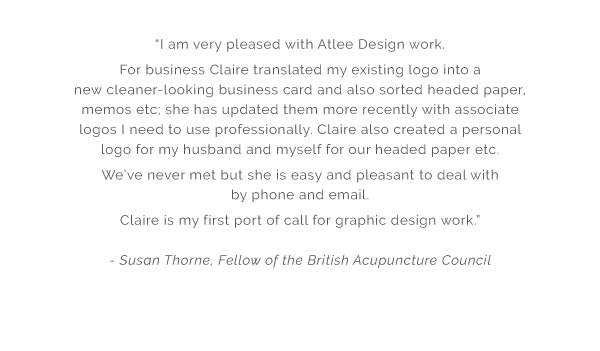 Atlee Design Graphic Design and Artworking Testimonial 6